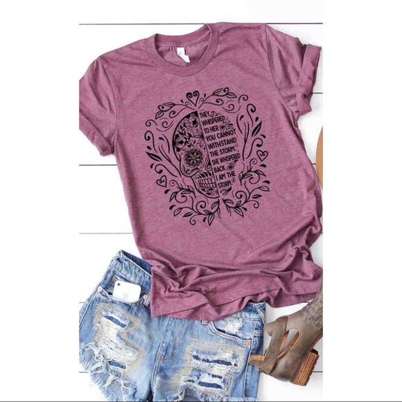 Tops - 💀💜Sugar Skull I am the Storm Graphic Tee
